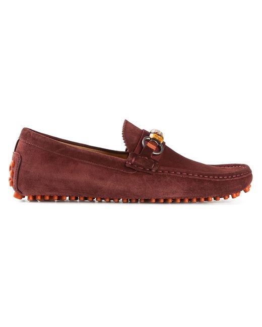 Gucci   Мужское Красный Bamboo Detail Loafers