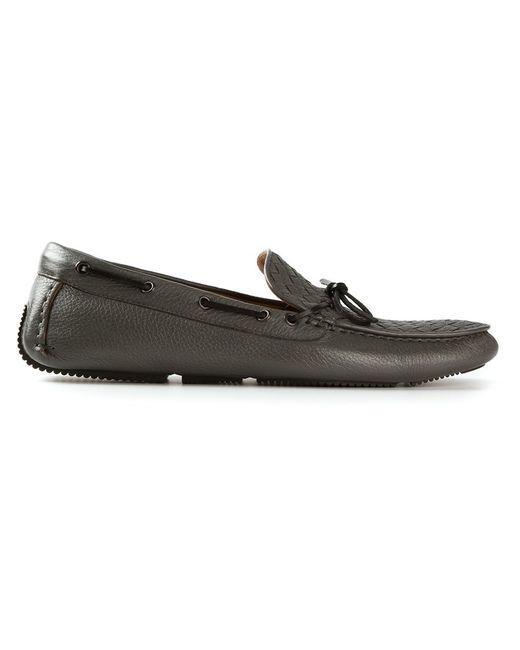 Bottega Veneta | Мужское Серый Intrecciato Driving Shoes