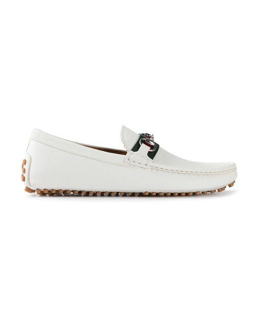 Gucci | Мужское Белый Classic Driving Shoes