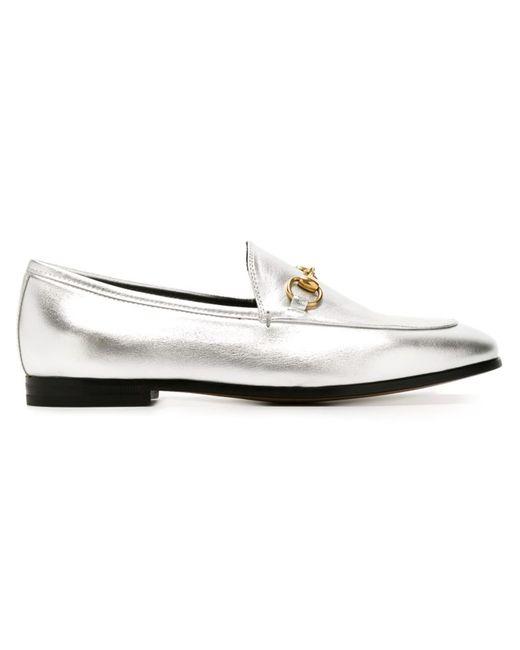 Gucci | Женское Серый Jordaan Loafers