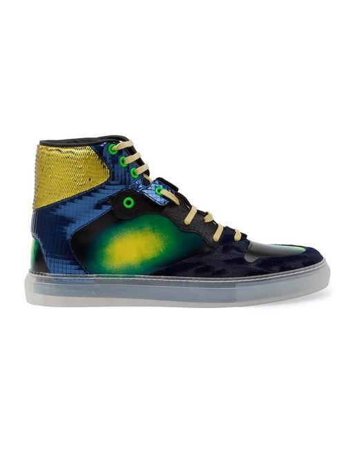 Balenciaga | Мужское Синий Iridescent Hi-Top Sneakers