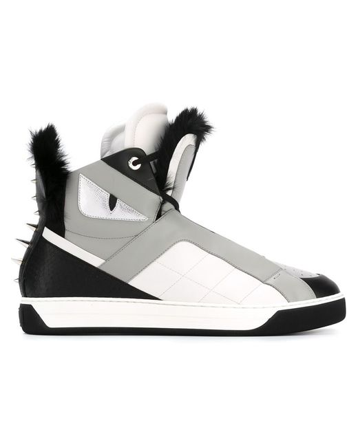 Fendi | Мужское Чёрный Bag Bugs Hi-Top Sneakers