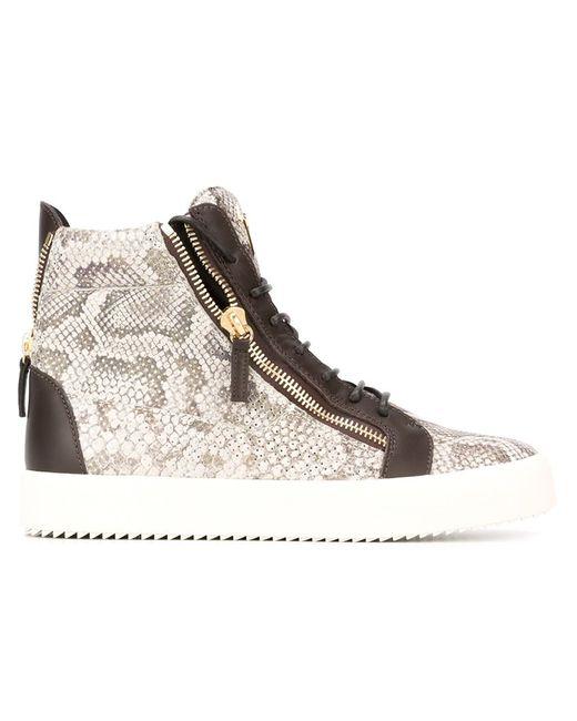 Giuseppe Zanotti Design | Мужское Коричневый Devon Hi-Top Sneakers