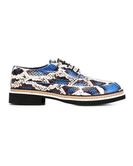 Mcq Alexander Mcqueen   Женское Белый Snakeskin Lace-Up Shoes