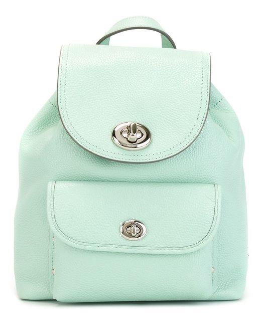 COACH | Женское Зелёный Flip-Lock Backpack