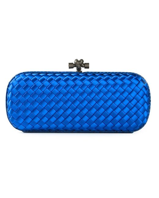 Bottega Veneta   Женское Синий Woven Box Clutch