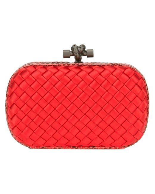 Bottega Veneta | Женское Красный Knot Box Clutch
