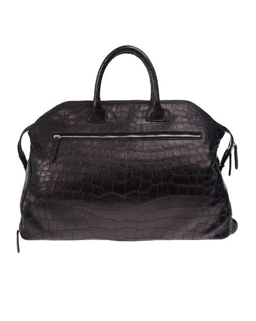 Zagliani | Чёрный Crocodile Leather Holdall