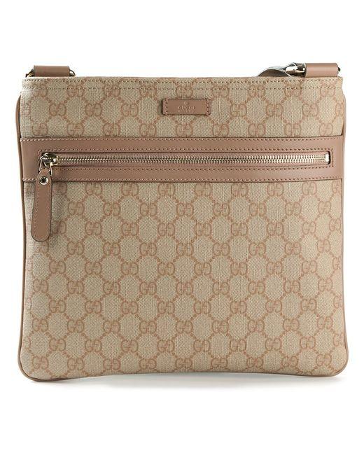 Gucci   Женское Nude & Neutrals Signature Monogram Cross Body Bag