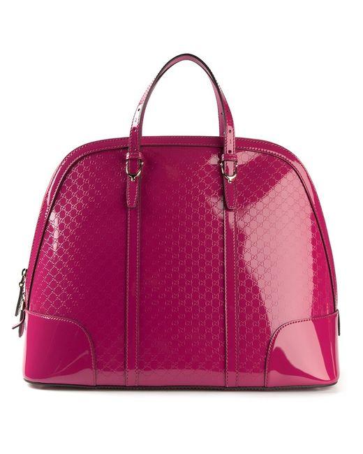 Gucci | Женское Розовый Ssima Embossed Varnished Tote
