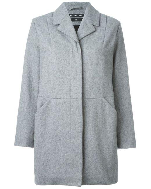 Minimarket   Женское Серое Пальто Jenny