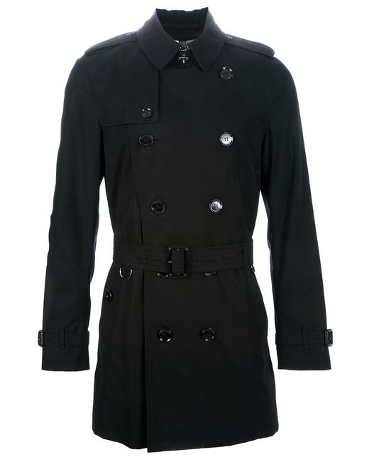 Burberry London   Мужское Чёрный Double Breasted Trench