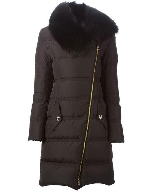 Versace Collection | Женское Чёрный Fox Fur Collar Padded Coat