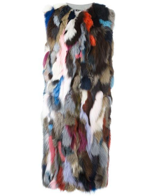 Liska | Женское Многоцветный Fox Fur Sleeveless Coat