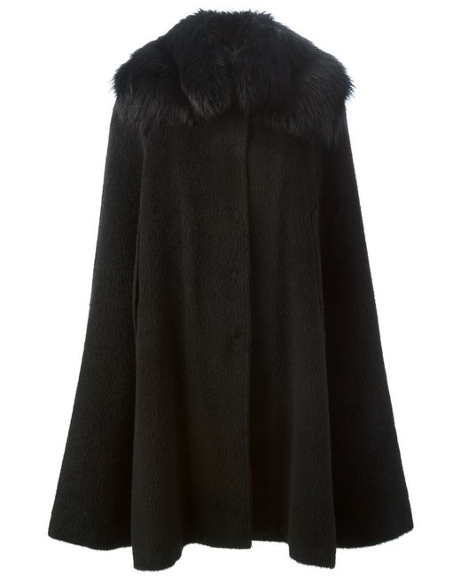 Dolce & Gabbana | Женское Чёрный Fox Fur Collar Cape