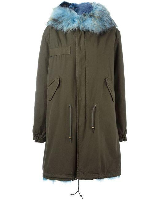 MR & MRS Italy | Женское Зелёный Fox Fur Lined Parka