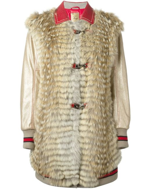 Fay | Женское Nude & Neutrals Contrasting Collar Coat