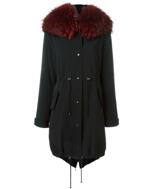 Liska | Женское Чёрный Fox Fur Hood Parka