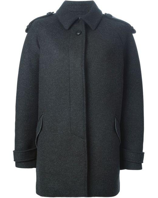 Isabel Marant | Женское Серое Пальто С Классическим Воротником
