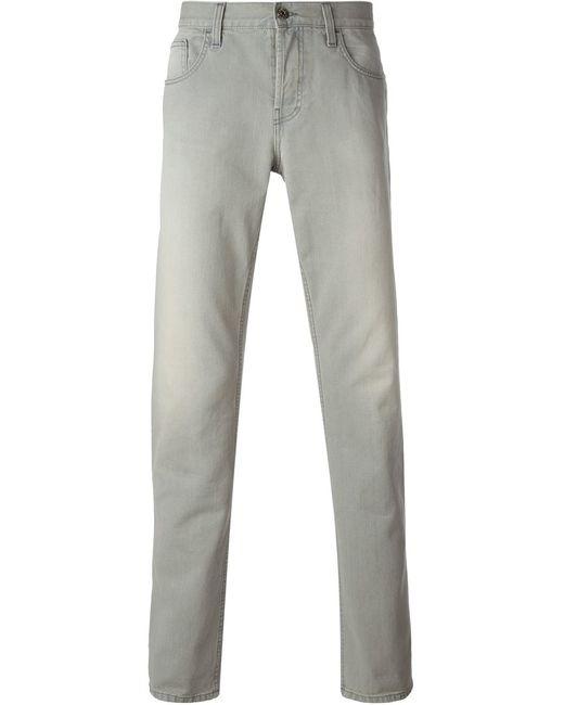 Gucci   Мужское Серый Straight Leg Jeans