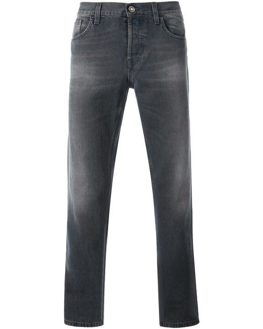 Gucci   Мужское Серый Slim Fit Jeans