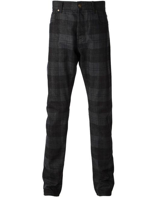 Alexander McQueen | Мужское Чёрный Checked Straight Leg Jeans