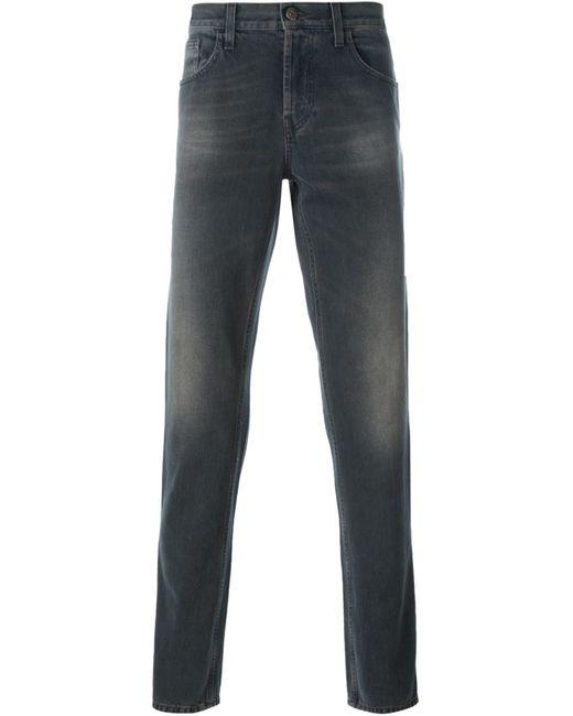 Gucci   Мужское Серый Stonewashed Straight Leg Jeans