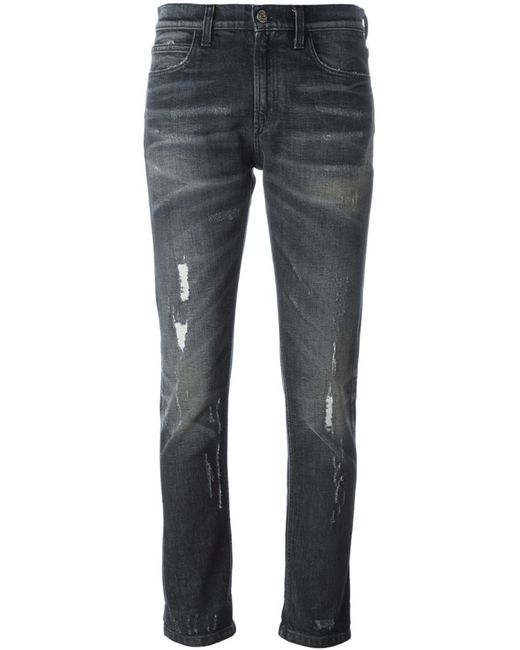 Gucci   Женское Серый Stone Washed Ripped Jeans