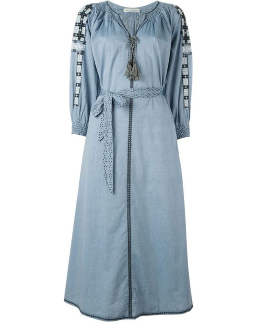 Ulla Johnson | Женское Синий Odessa Chambray Dress