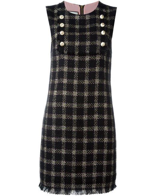 Gucci | Женское Чёрный Checked Shift Dress