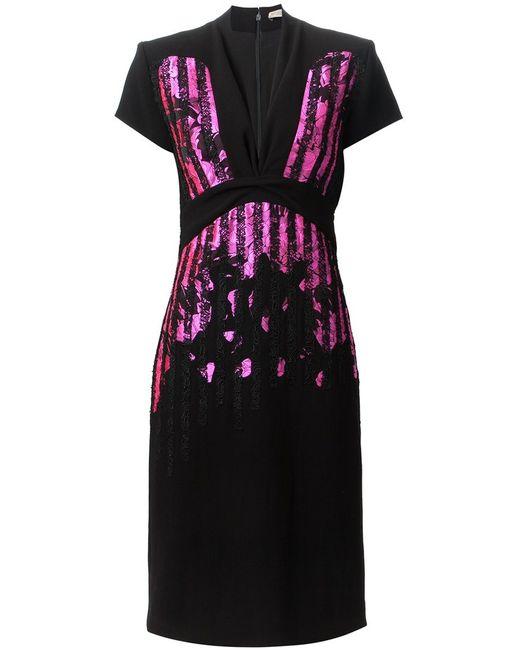 Bottega Veneta   Женское Чёрный Lace Stripes Dress