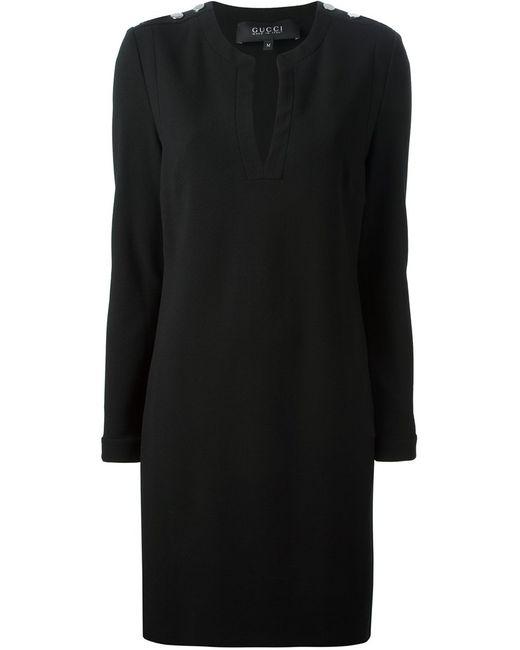 Gucci   Женское Чёрный Shoulder Detail Dress