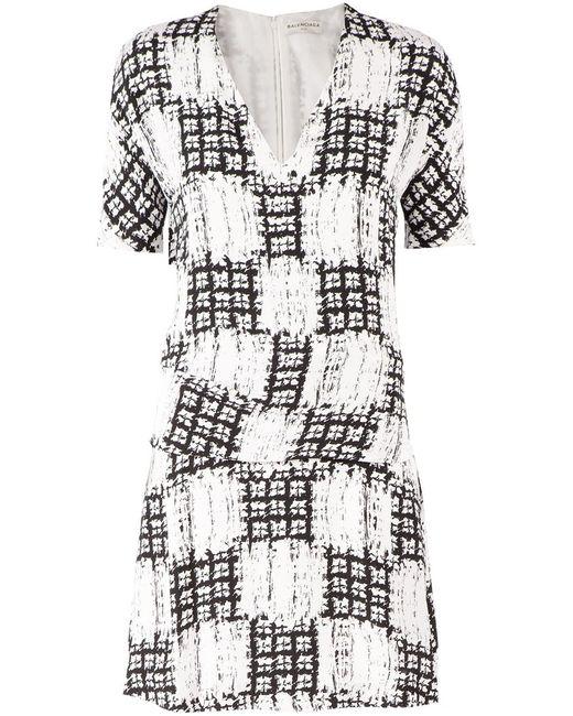 Balenciaga | Женское Чёрный Graphic Printed Dress