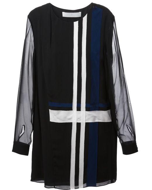 Thakoon Addition   Женское Чёрный Striped Design Short Dress