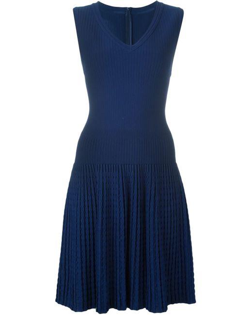 Alaïa | Женское Синий Ribbed Knit Dress