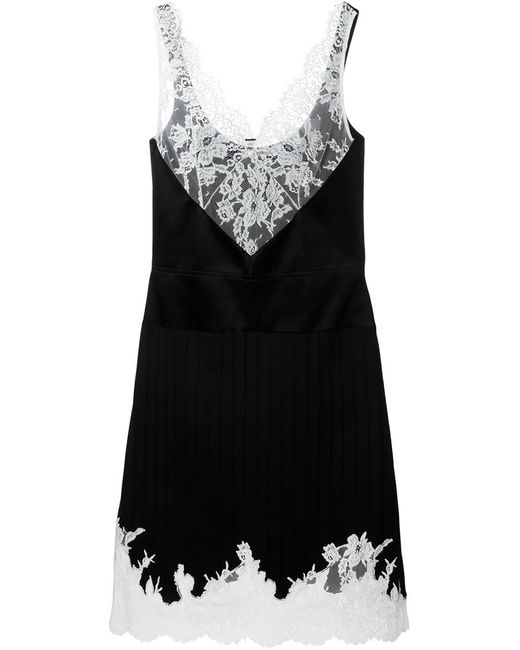 Céline | Женское Чёрный Lace Detail Evening Dress