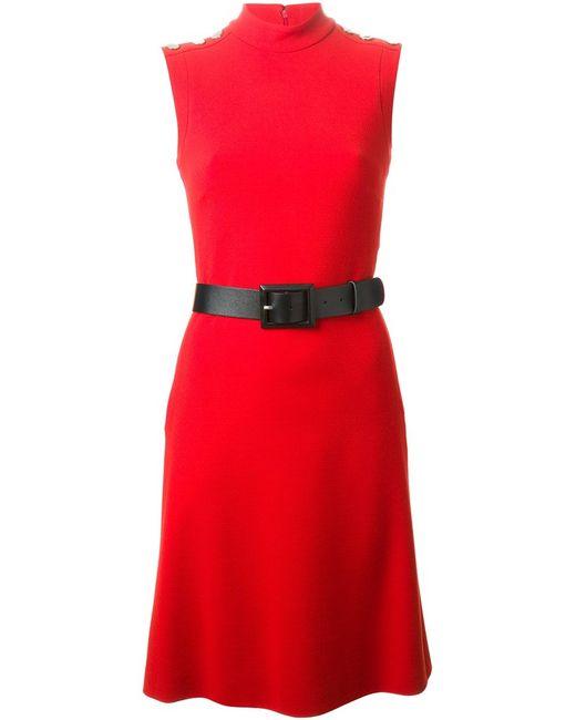 Gucci   Женское Красный Belted Dress