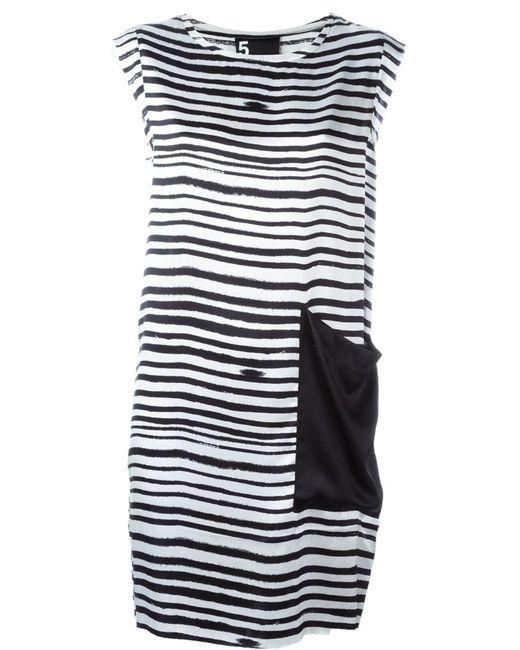 OUTSOURCE IMAGES | Женское Чёрный Printed Shift Dress