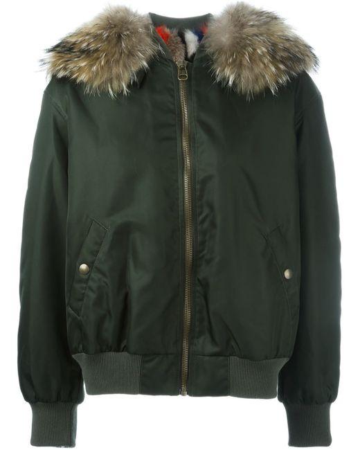 MR & MRS Italy | Женское Зелёный Detachable Fur Trim Bomber