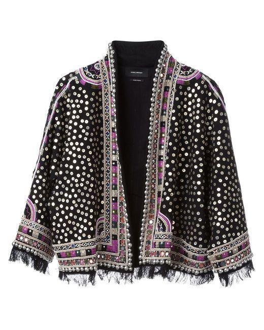 Isabel Marant   Женская Чёрная Декорированная Куртка Baykal