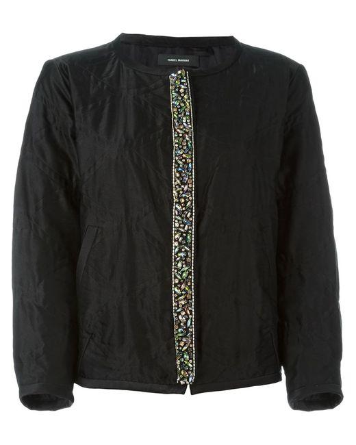 Isabel Marant | Женская Чёрная Декорированная Куртка-Бомбер