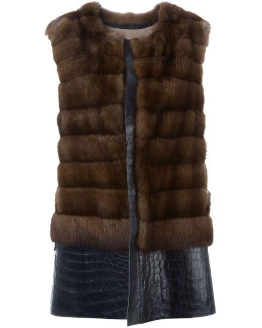 Liska | Женское Коричневый Fur Paneled Vest