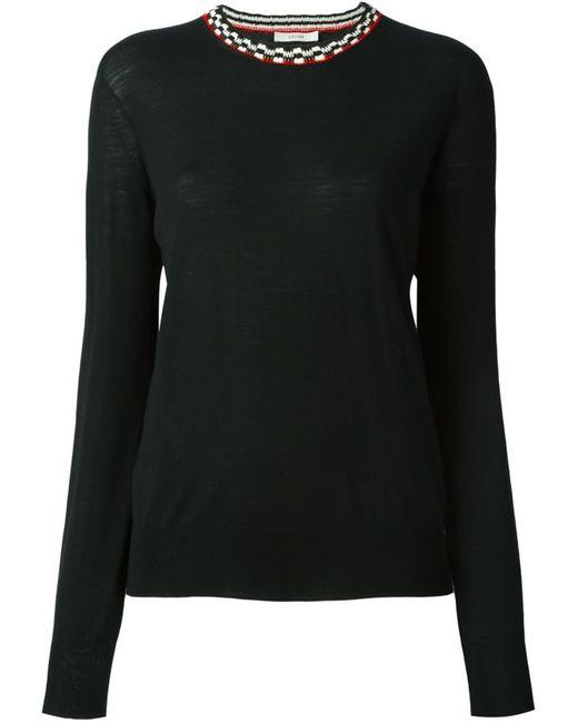 Céline | Женское Чёрный Neck Detail Sweater