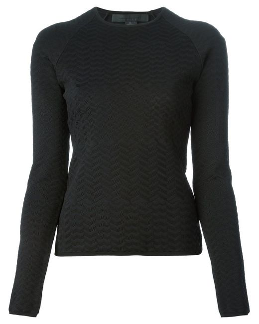 Alexander Wang | Женское Чёрный Zigzag Stitched Sweater