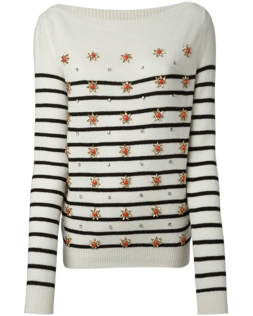 Gucci | Женское Белый Striped Sweater