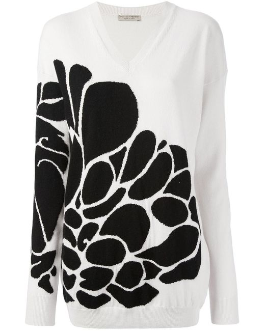 Bottega Veneta | Женское Nude & Neutrals Graphic Knit Sweater