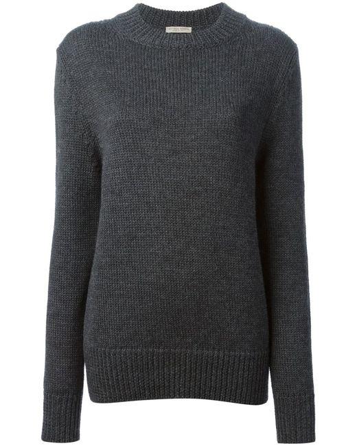 Bottega Veneta   Женское Серый Crew Neck Sweater