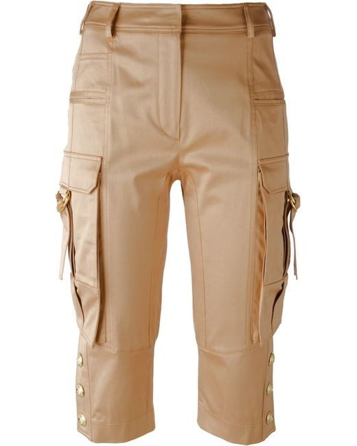 Balmain | Женское Nude & Neutrals Cropped Trousers