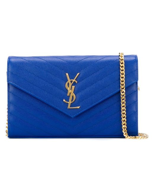 Saint Laurent | Женское Синий Monogram Wallet On Chain Shoulder Bag