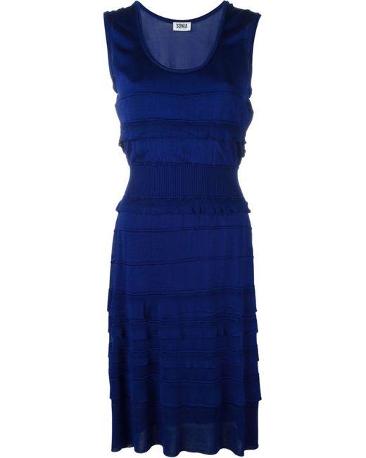 Sonia By Sonia Rykiel | Женское Синий Knitted Frill Ruffled Dress
